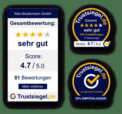 Trustsiegel auf Webseite